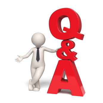 Q&A Icon - Questions and answers - 3d man